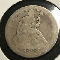 1858-O SEATED LIBERTY SILVER HALF DOLLAR COIN