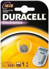 1x Duracell CR1616 3V Lithium Button Coin Cell Battery DL1616 1616 BR1616