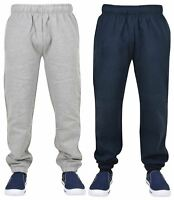 New Mens Plain Fleece Pocket Jogging Bottoms Comfort Jogger Pant Elasticated Hem