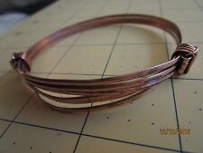 Two or 2 knot African Elephant hair style Bracelet dark brass color