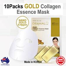 10x Dermal Gold Collagen essence Facial Face Mask Sheet Skin Pack Korea