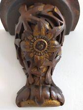 Console d'applique Art nouveau bois massif sculpté