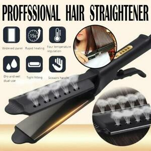 Hair Flat Straightener Glider Hot Four Gear Steam Ceramic Tourmaline Ionic Iron