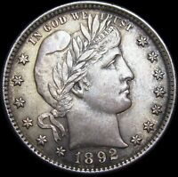 1892 Barber Quarter Silver ----  GEM BU++ Condition Original  ----  #K660