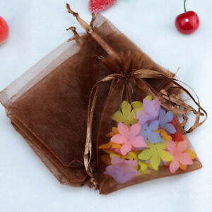 50PCS/Lot Organza Bags Jewelry Packaging Bags Wedding Party Decor Gift Bags