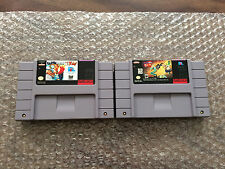 Earthworm Jim 1 + 2 (Super Nintendo, SNES LOT) Authentic Carts Only - Tested