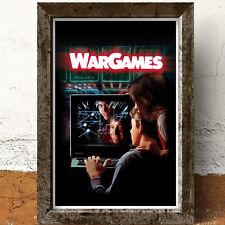 WarGames War Games 1980's Hacker Film Movie Glossy Print Wall A4 Poster