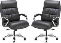 Big Tall 400lbs Executive Office Chair Thick Padding Cushion Armrest Adjustable