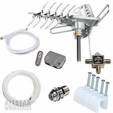 Lava HD-2605 Ultra Indoor & Outdoor Antenna G3 Control Box + Bonus Accessories