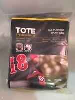 "Easton Softball Baseball Black 2 Bats 1 Helmet Speed Brigade TOTE Bat Bag 36"""