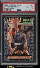 1992 Stadium Club Beam Team Shaquille O'Neal ROOKIE RC #21 PSA 8 NM-MT