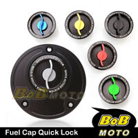 Racing CNC Quick Lock Release Gas Fuel Cap For Kawasaki ZX 6R 636 Ninja 2013
