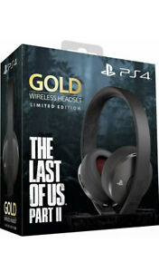 SONY WIRELESS HEADSET GOLD THE LAST OF US 2 In OVP PS 4 PLAYSTATION wie Neu