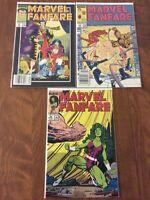MARVEL FANFARE Lot: 43, 46, 48: Fantastic Four, Thing, Torch, Namor, She-Hulk!