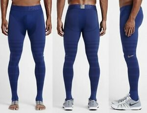 2016 Nike Pro Hyperrecovery Compression Tights Blue Silver Sz 2XL XXL 812988 455