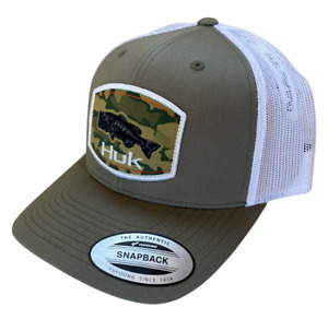 Huk Camo Bass Mesh Snapback Trucker Style Hat H3000262 - Choose Color