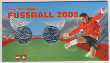Österreich 2x 5 Euro 2008 Silber Fussball