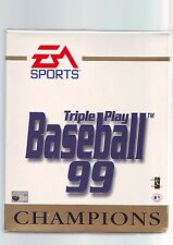 TRIPLE PLAY : BASEBALL 99 CHAMPIONS - 1998 PC GAME - ORIGINAL RARE BIG BOX