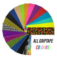 "Skateboard Griptape Self Adhesive Sheet 9"" x 33"" - Colours"