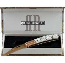 Rough Rider Copper Stone Lockback Pocket Knife RR1530 Titanium Finish
