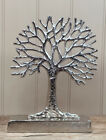 Silver Tree Of Life Ornament Home Decoration Metal Sculpture 29 Cm