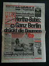 DFB-Pokalendspiel 12.06.1993 Bayer 04 Leverkusen - Hertha BSC A, Kurier Berliner