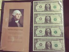 2003 A 4 Uncut $1 One Dollar Bill Notes World Reserve Monetary Exchange (#US-59)