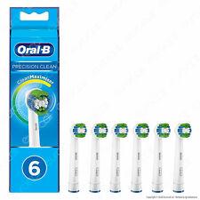 Oral-B Precision Clean Testine di Ricambio - Bianche, Set di 6