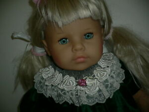 "BRIGETTE ZAPF SIGNED 25"" CLOTH AND VINYL DOLL"