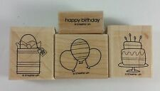 Stampin' Up! BITTY BIRTHDAY (Wood) Cake Balloons Presents Gift Bag - Set of 4