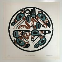 """David Boxley """"Four Clans United"""" Serigraph / Screen print #30/300 Signed"""