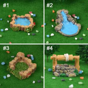 Micro Landscape Lawn Mountain Stream DIY Decor Garden Fairy Craft Accessories