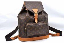 Authentic Louis Vuitton Monogram Montsouris GM Backpack M51135 LV A0000