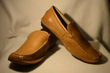 NEW  Men's Size  11.5 Franco Fortini Max Tan/Brown Leather Slip On Loafer $69.99