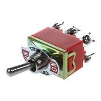 AC 250V 15A Latching 3 Way On-Off-On Single Pole Double Throw Toggle Switc C8M2