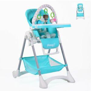B-Ware Hochstuhl Mango, höhenverstellbar, abnehmbares Sitzpolster, hellblau