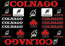 Colnago Bicycle Bike Frame Decals Stickers Adhesive Graphic Set Vinyl Red