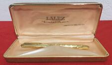 Vintage Lalex Uberal Feder Laminato Oro Gold Plated Ballpoint Pen made in Italy