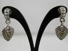 Silver Metal Dangle Heart Women's Earrings – Preowned