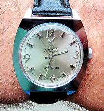 Retro 1970s Camy deluxe SS 17 Jewel mechanical gents watch serviced warranty