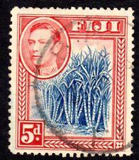 FIJI 1938 Blue & Red KG Stamp (lot 1) - fine used