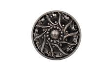 hübsche silber antik Metall Knöpfe Dirndl Tracht Gewand gewölbt 5 Stück