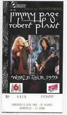 RARE / TICKET CONCERT - JIMMY PAGE & ROBERT PLANT LED ZEPPELIN LIVE FRANCE 1995
