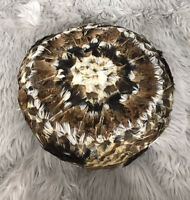 Vintage Women's Multicolored Peacock Feathers Pillbox Hat