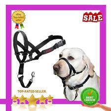 HALTI Headcollar Size 3 Large Black Gentle Stop Dog Collar Lead Padded Noseband