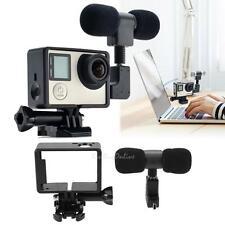 Mini USB 3.5mm Stereo Microphone w/ Frame for GoPro Hero 3/3+/4 Sports Camera