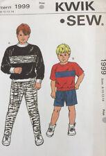 Kwik Sew 1999 Tween Boys Pants Shorts Shirt 8-14 School Uncut Sewing Pattern