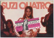 Suzi Quatro - Rock Explosion '74 JAPAN PROGRAM w/TICKET STUB November 20-24 1974