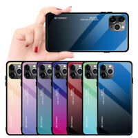 For Apple iPhone 11 Pro Max Tempered Glass Phone Case Shockproof Bumper Cover