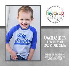 Big Brother Shirt Raglan Tee Toddler Boy New Sibling Announcement tshirt Gift